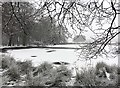 SK2679 : Frozen lake at Longshaw by Graham Hogg