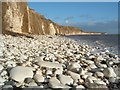 TA2068 : Chalk Pebble beach at Sewerby, Near Bridlington. by Paul Allison