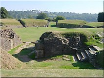 ST3390 : Roman Amphitheatre at Caerleon by Penny Mayes