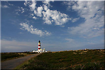 NX4604 : Point of Ayre Lighthouse by Andy Stephenson