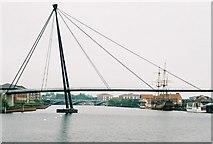 NZ4418 : Teesquay Millennium Bridge, Stockton by Dave Eagle