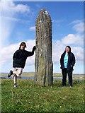 HP6000 : Roadside Standing Stone, near Clivocast, Unst, Shetland by Bob Embleton