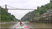 ST5673 : Clifton Suspension Bridge from Hotwells by Martin Clark