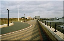 TQ6077 : Grays Thamesfront Promenade by Michael Parry