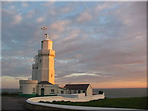 SZ4975 : St Catherine's Lighthouse at Sunset by Andrew McDonald
