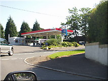 NS5556 : Petrol Station, Mearns Road, Broom by Gordon McKinlay