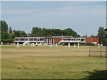 TQ0684 : Uxbridge Cricket Club, Uxbridge Common by David Hawgood
