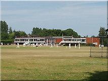 TQ0684 : Uxbridge Cricket Club, Uxbridge Common by David Hawgood
