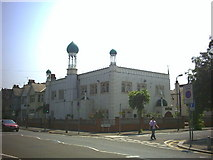 TQ2572 : Southfields Mosque, Durnsford Road. by Noel Foster