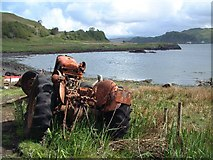 NM8127 : The Little Horse Shoe, Kerrera (and tractor) by Bob Jones