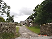 SJ0877 : Stone farm buildings at Pwllhalog by Dot Potter