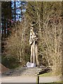 SD3394 : Ancient Forester, by David Kemp, Grizedale Forest, Cumbria by Kate Jewell