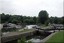 ST6866 : Kelston lock and weir, on the River Avon. by Martyn Pattison