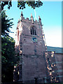 SJ3971 : St Oswalds Church Tower by Dennis Turner