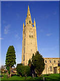 SP8046 : Hanslope Church by David Neale