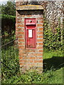 SP7806 : Victorian Pillar box in Owlswick by David Hawgood