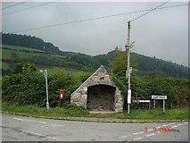 SH8069 : Stone shelter by Dot Potter