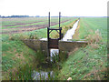 TF2103 : Drainage sluice, Newborough Fen, Peterborough by Rodney Burton