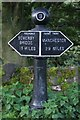 SE0225 : Milepost, Rochdale Canal, Brearley by Mark Anderson