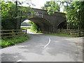 SP7427 : Railway bridge by Jon S