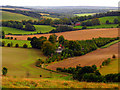 SU3661 : Valley between Summer and Walbury Hills by Pam Brophy