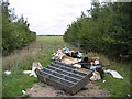 TL2245 : Fly-tipping, Dunton, Beds by Rodney Burton