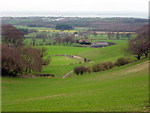 SZ5587 : Viewpoint near Mersley Down by Crispin Purdye