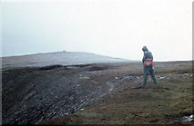 C0028 : Summit (2197ft) of Muckish Mountain on a wet and windy day by Dr Charles Nelson