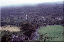 M1710 : waterfalls on mountainside, Aghaglinny North, The Burren by Dr Charles Nelson
