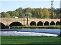 SK2523 : Weir on the River Trent by Angella Streluk