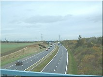 NZ3459 : Saturday Afternoon above the A19 by Steve McShane