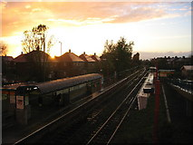 NZ3171 : Shiremoor Metro Station, sunset by Alan Fearon