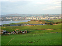 NO3824 : Dundee and the Tay estuary from Gauldry by Val Vannet