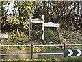 SJ7979 : Old road sign at junction of Church Lane & Town Lane , Mobberley by Ian Warburton