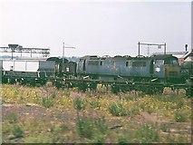 SU1384 : Scrap Loco and Wagons, Swindon Railway Works by mark harrington