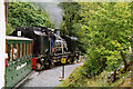 SH5754 : Betws Garmon: train nearing Glan-yr-afon viaduct by Martin Bodman