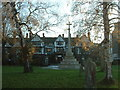 SP9211 : The Rose &amp; Crown and War Memorial, Tring by Rob Farrow
