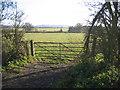 TL4161 : Farmland with farm gate, Girton, Cambs by Rodney Burton