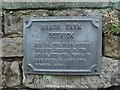 SK3258 : Plaque at Manor Farm Dethick by mickie collins