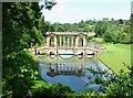 ST7663 : The Palladian Bridge, Prior Park Garden, Bath by Dave Napier