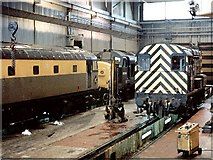 NS6068 : Eastfield Railway Depot by Dave Hitchborne