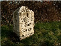 SW9264 : 1 Mile to St. Columb by Barry