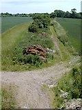 SJ4851 : Course of disused railway near Duckington by Stephen Charles