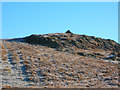 NY5606 : The rocky summit of Crag Hill (1317') with its small cairn by John Darch