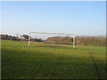 NS7560 : Sloping Football Pitch, Holytown by Iain Thompson
