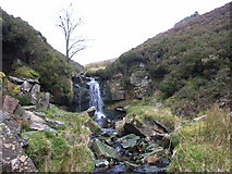 NY6645 : Small waterfall, Woldgill Burn by Andrew Smith
