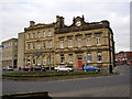 SE1422 : Bank and Town Hall, Thornton Square, Brighouse, Yorkshire by Humphrey Bolton