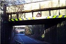 SJ8901 : Two Railway Bridges by Geoff Pick