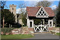 SO8865 : Lych Gate to Hampton Lovett church by Philip Halling