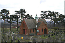 SJ3166 : Cemetery Chapel by David Long
